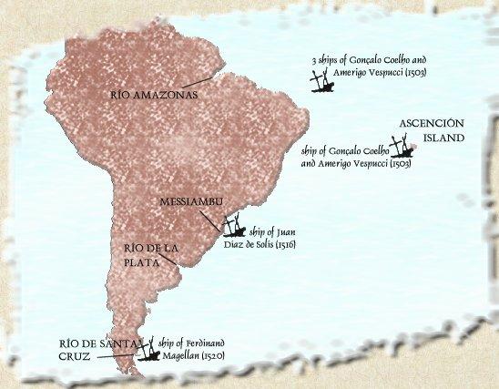 South American shipwrecks